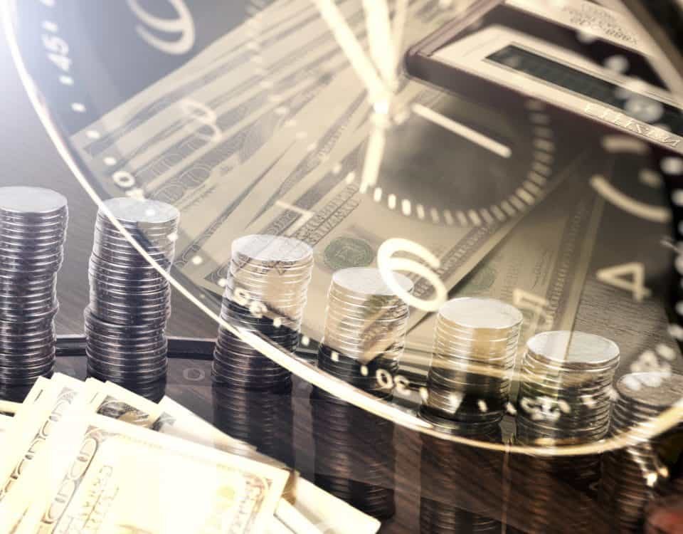 stack of coins and money